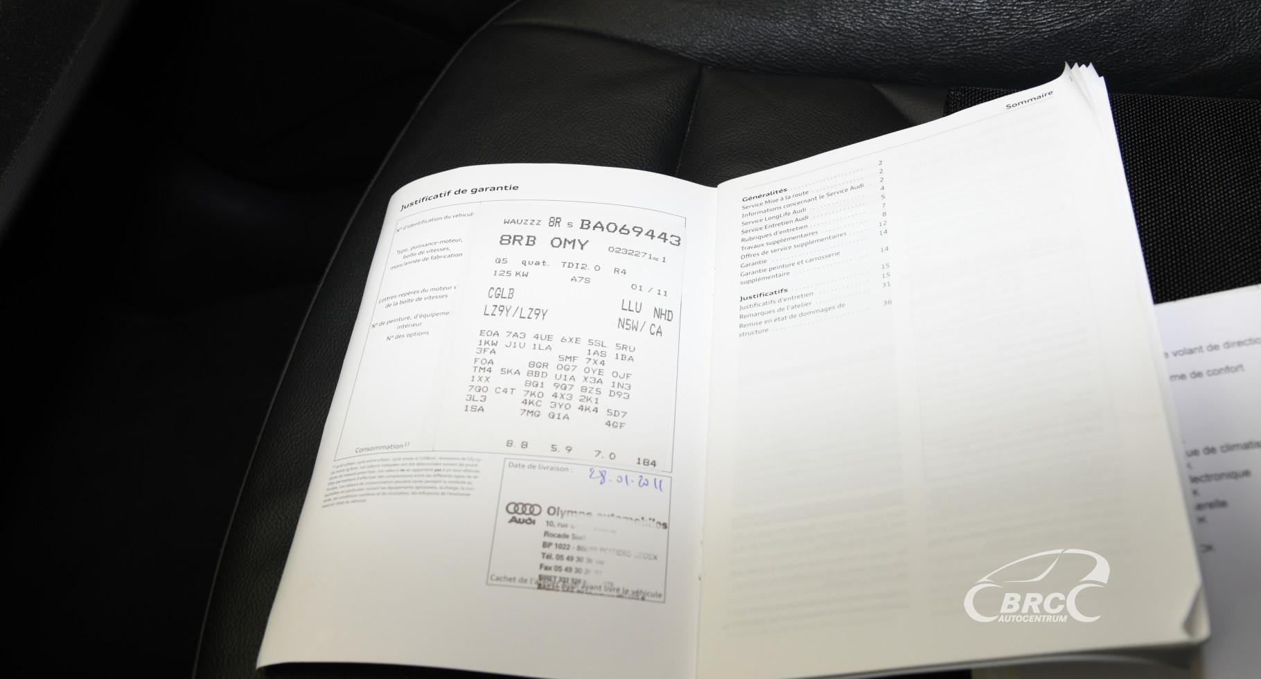 Audi Q5 2.0 TDI Qauttro Automatas
