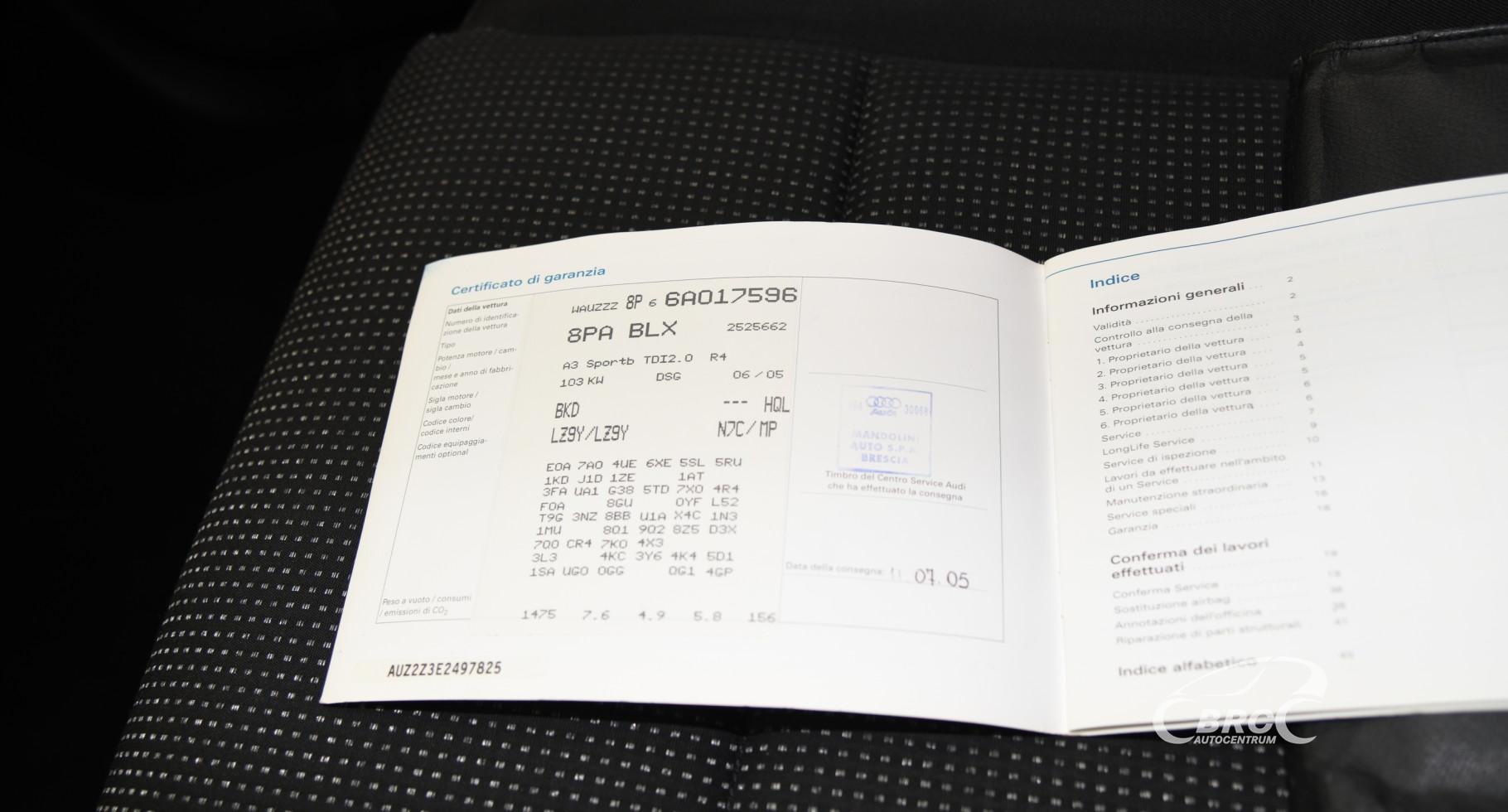 Audi A3 2.0 TDI Automatas Sportback