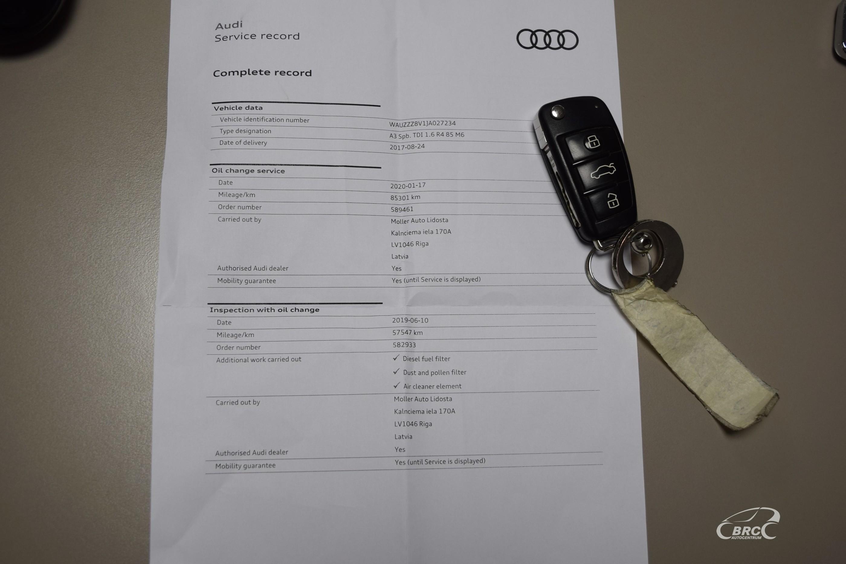 Audi A3 Sportback TDi M/T